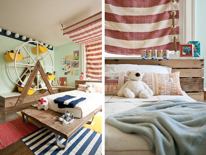 Modern kid s circus room the modern home for Circus themed bedroom ideas