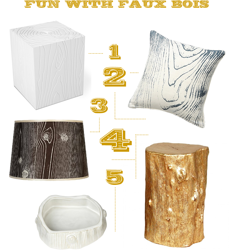 faux bois home accessories