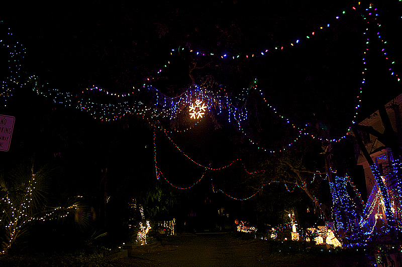 North Forest Beach Christmas Lights
